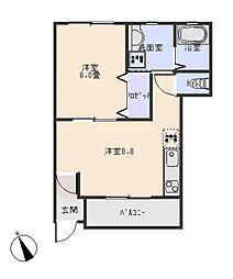 (仮称)洞町向山賃貸住宅[1階]の間取り