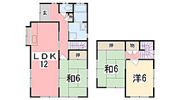[一戸建] 兵庫県姫路市田寺8丁目 の賃貸【兵庫県 / 姫路市】の間取り