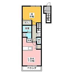 ブルーノートB[2階]の間取り