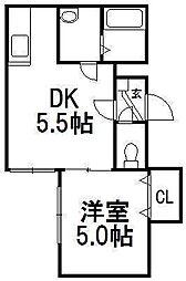 北海道札幌市白石区菊水一条4丁目の賃貸マンションの間取り