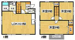 [一戸建] 徳島県板野郡北島町中村 の賃貸【/】の間取り