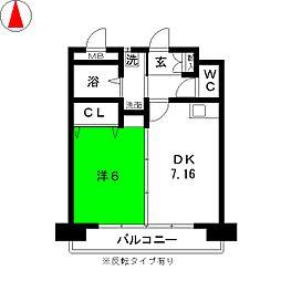 フクヨシ5[4階]の間取り
