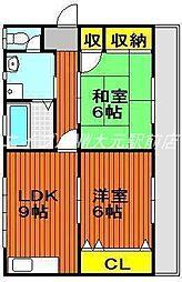 西崎マンション[3階]の間取り