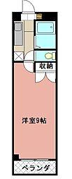 KMマンション八幡駅前II[510号室]の間取り