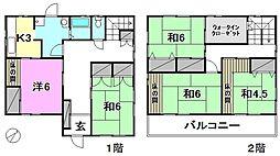 [一戸建] 愛媛県松山市春美町 の賃貸【/】の間取り