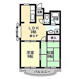 ラジャクラブ[2階]の間取り
