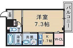 大阪府豊中市服部西町3の賃貸マンションの間取り