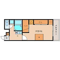 奈良県香芝市下田西4丁目の賃貸マンションの間取り