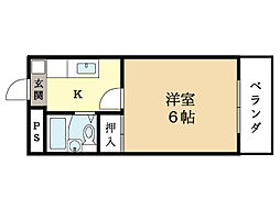 パーパス21[1階]の間取り