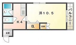 レジデンストモエ[3階]の間取り