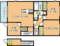 Legendハイム(レジェンドハイム)E棟[2階]の間取り