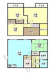 [一戸建] 和歌山県和歌山市木ノ本 の賃貸【/】の間取り