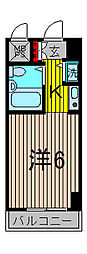 モナークマンション西川口[8階]の間取り