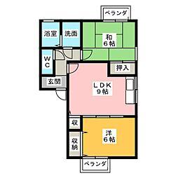 ロイヤルKII[2階]の間取り