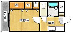 オークヒルズ[1階]の間取り