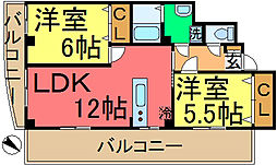 YKビル関口[0301号室]の間取り