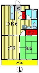 平和橋パールコーポ[11階]の間取り