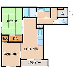 兵庫県尼崎市昭和南通8丁目の賃貸マンションの間取り