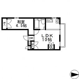 ラフォーレ菱屋西II[407号室号室]の間取り