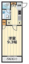シャンテーム鶴間[303号室]の間取り