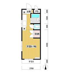 コーポ中島 bt[2階]の間取り