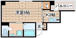 神戸市海岸線 ハーバーランド駅 徒歩9分の賃貸マンション 9階1Kの間取り