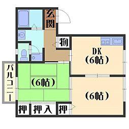 北ウィング・南ウィング[2階]の間取り