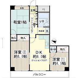 KOWA鶴見パールハイム[4階]の間取り