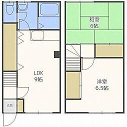 北海道札幌市北区北三十七条西2丁目の賃貸アパートの間取り