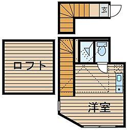 神奈川県横浜市港南区笹下2の賃貸アパートの間取り