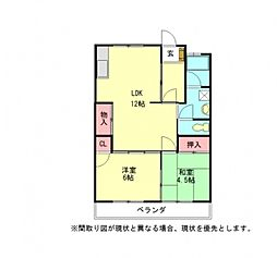 愛知県一宮市大赤見字下河原の賃貸アパートの間取り