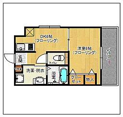 平尾弐番街ビル[806号室]の間取り