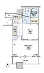 JR山手線 大塚駅 徒歩9分の賃貸マンション 11階1LDKの間取り