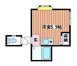 日野グリーンピース[1階]の間取り