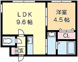 北海道札幌市北区北十八条西2丁目の賃貸マンションの間取り