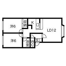ノイス新川[1階]の間取り