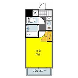 ルビダクォ荒本[4階]の間取り