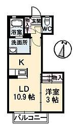 シャーメゾンSK B棟[203号室]の間取り