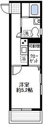 ルノン戸塚[2階]の間取り