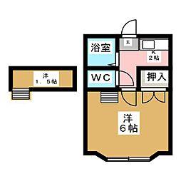 Αネクスト南小泉[2階]の間取り