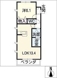 ルミナスコート[2階]の間取り
