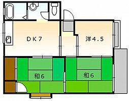 高崎ハイツ A棟[1階]の間取り