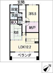 YGMマンション上小田井[2階]の間取り