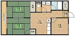 キャピタルハイム[2階]の間取り