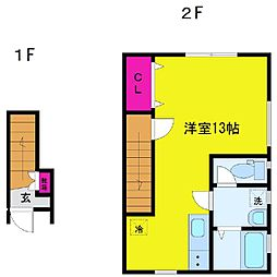 ボヌール A棟[2階]の間取り