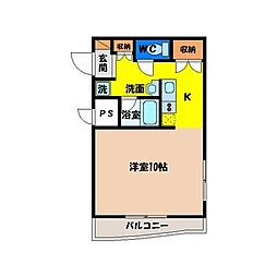 徳島県徳島市住吉1丁目の賃貸マンションの間取り