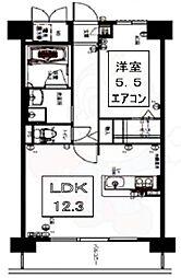 Luo Maroon 3階1LDKの間取り