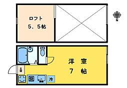 ログハウスコミヤマ[105号室]の間取り