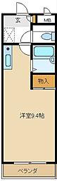 愛知県名古屋市天白区一本松1の賃貸マンションの間取り