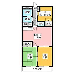 ドミール上野[3階]の間取り
